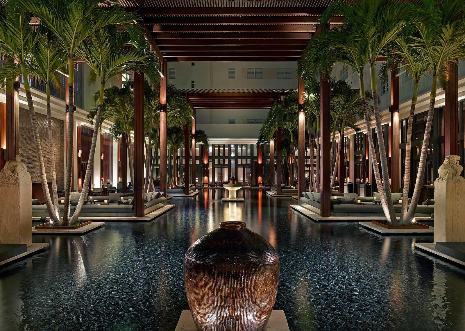 Setai Miami Courtyard