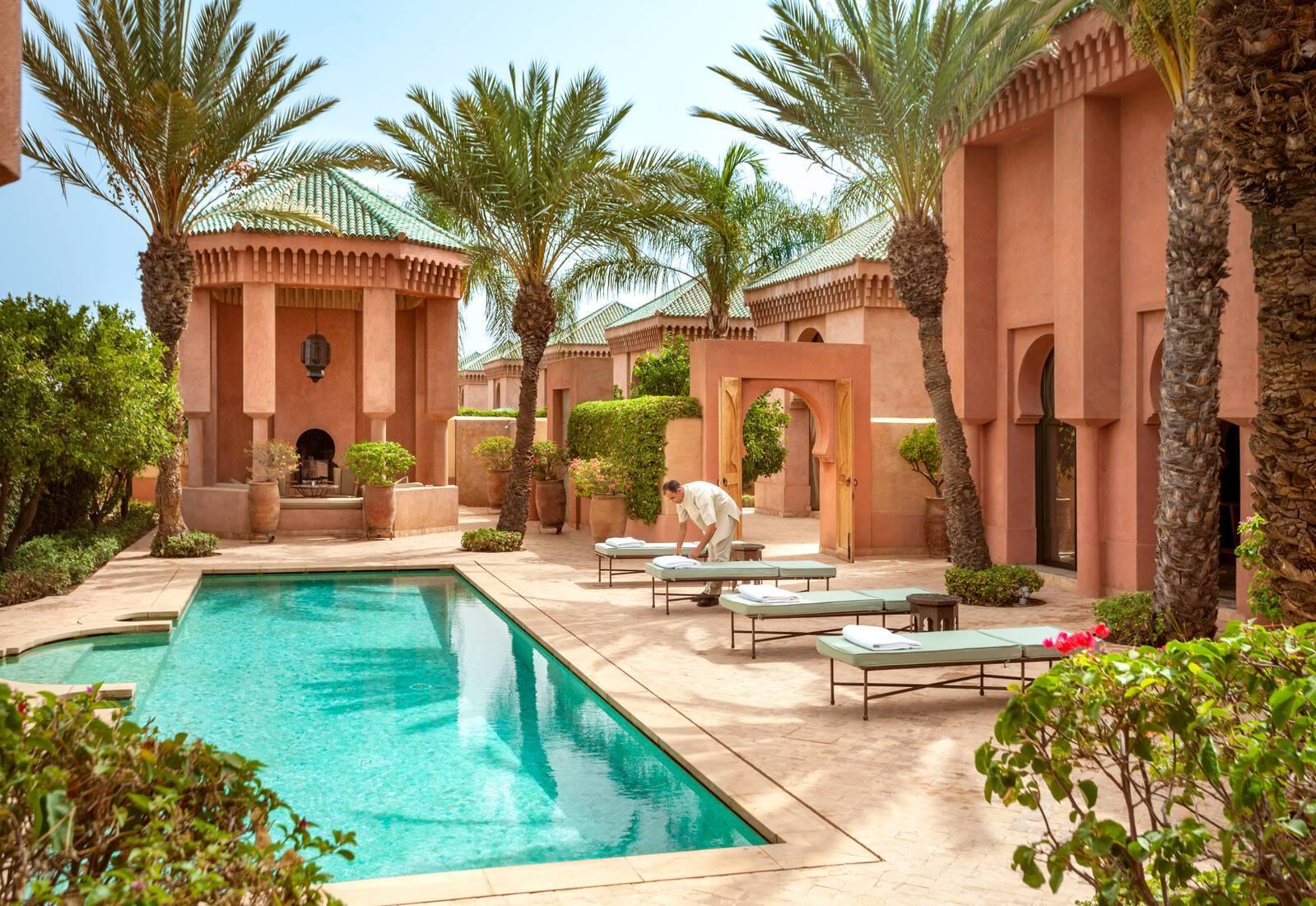 Amanjena Al Hamra Piscine Jardins Marrakech