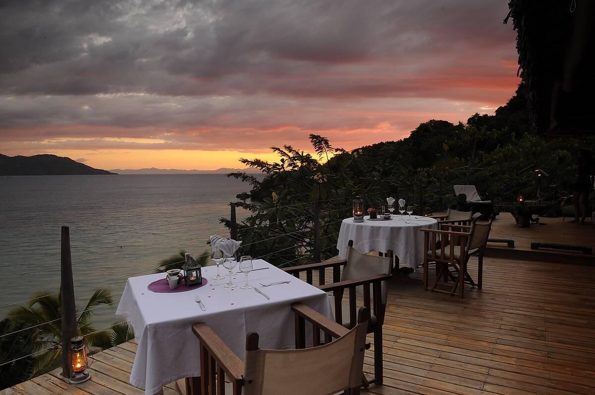 Tsara Komba Lodge Madagascar Sunset Dinner