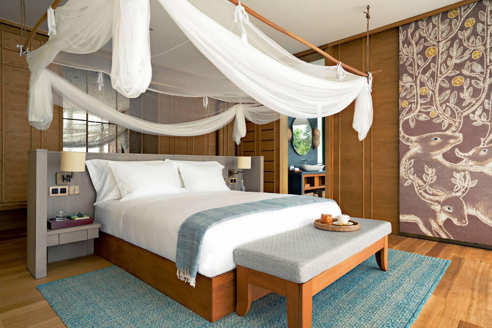 Six Senses Krabey Island Cambodge Ocean Pool Villa Suite bedroom