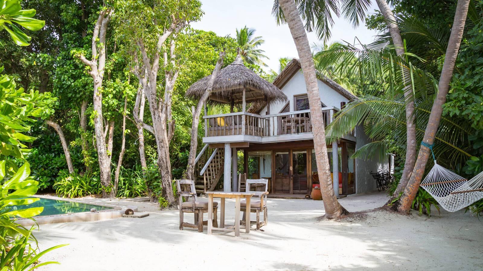 Soneva Fushi Villa Crusoe Chambre Maldives