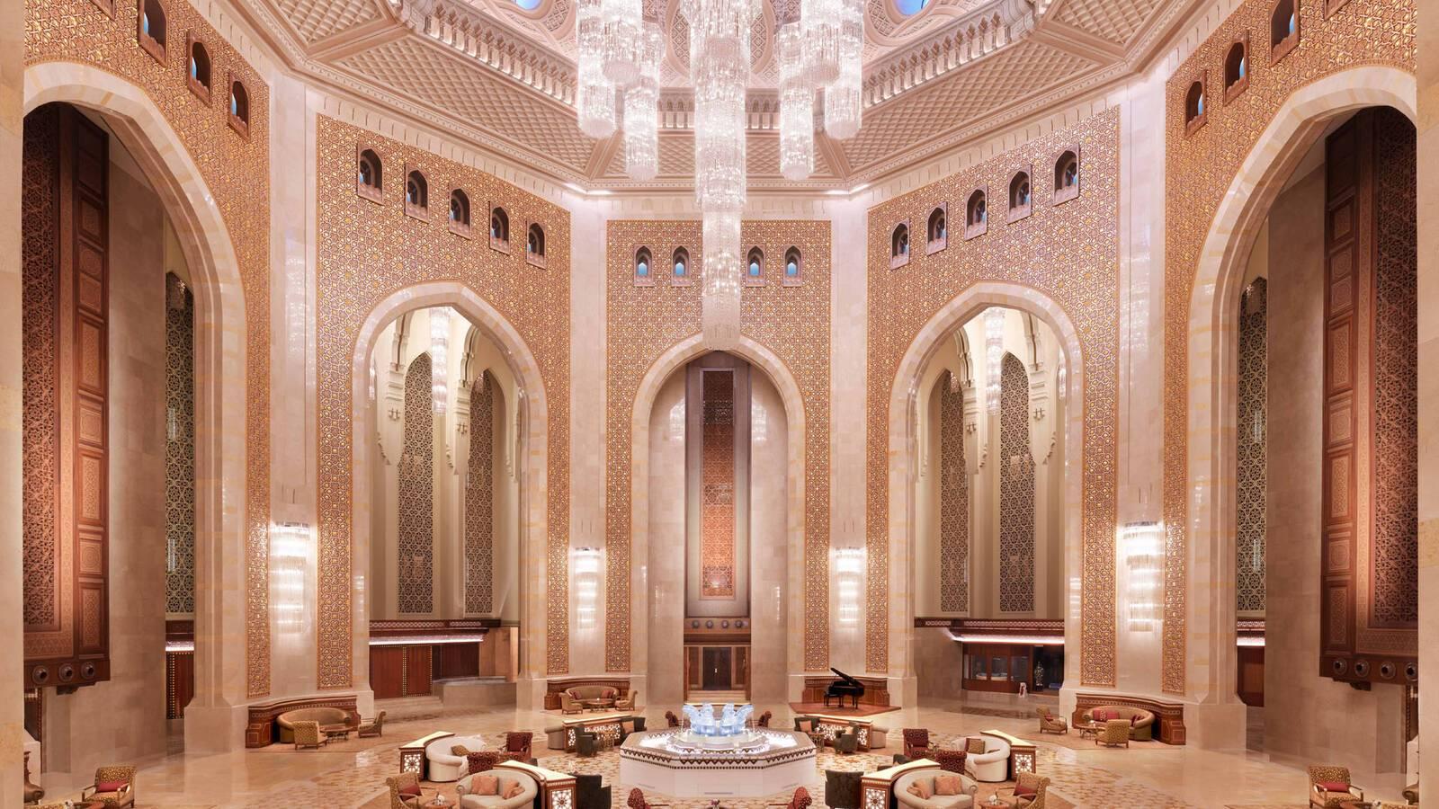 Al Bustan Palace Mascate Oman Lobby