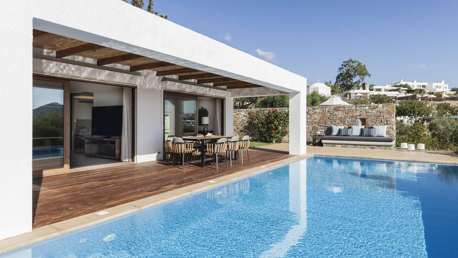 Elounda Mare Crete villa palace pool