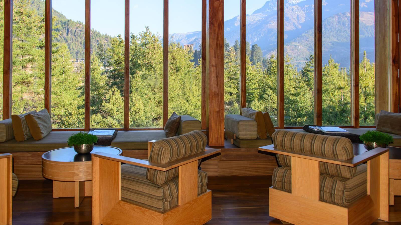 Paro Amankora Lodge Living Bhoutan Amanresorts