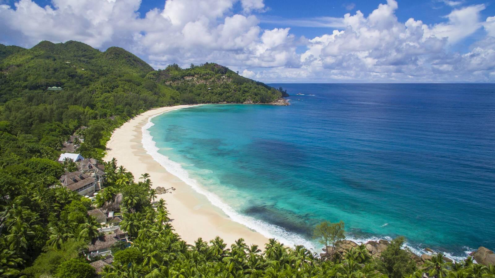 Banyan Tree Plage Vue Aerienne Seychelles