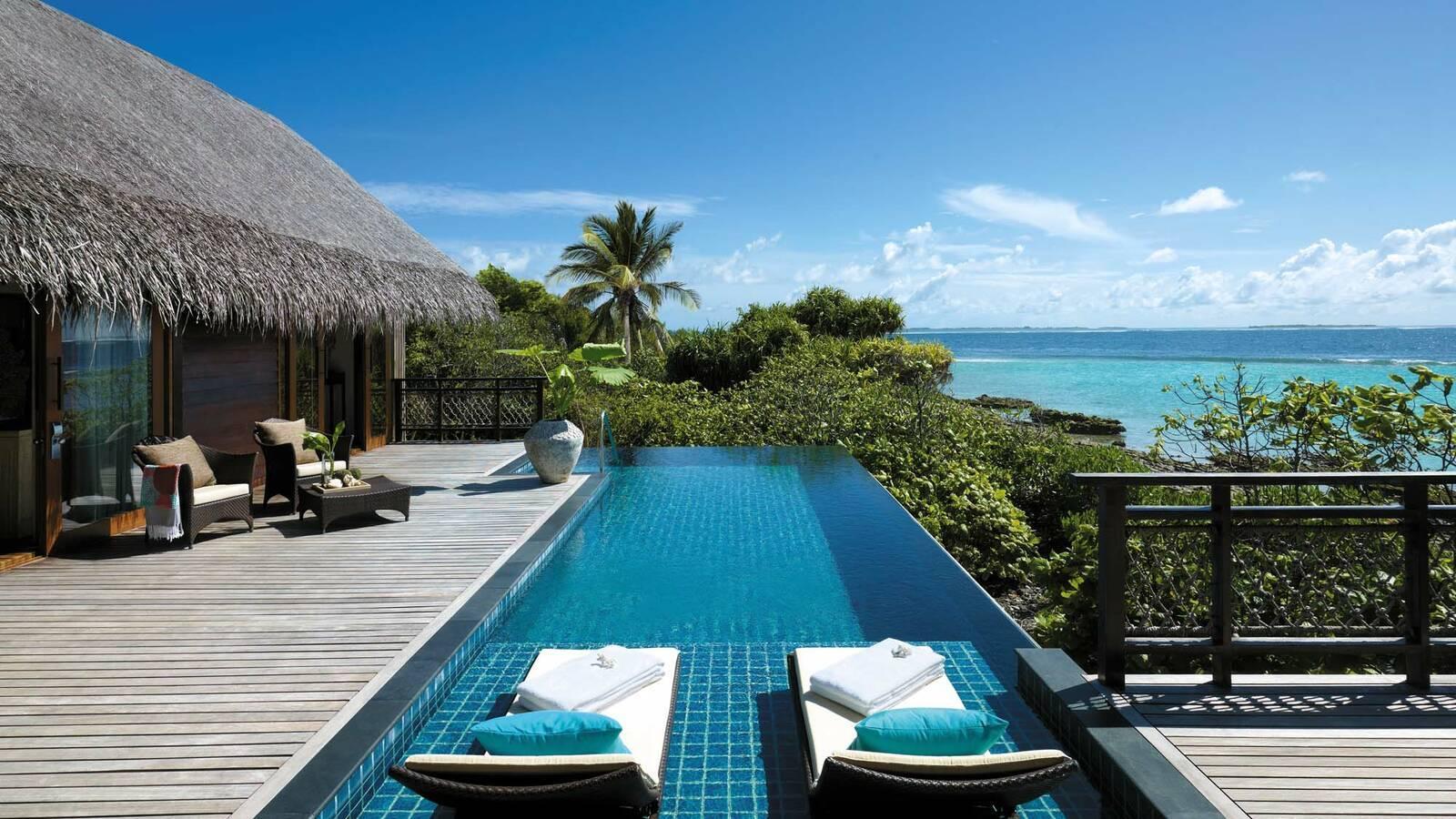 Shangri La Villingili Tree House Villa Piscine Maldives
