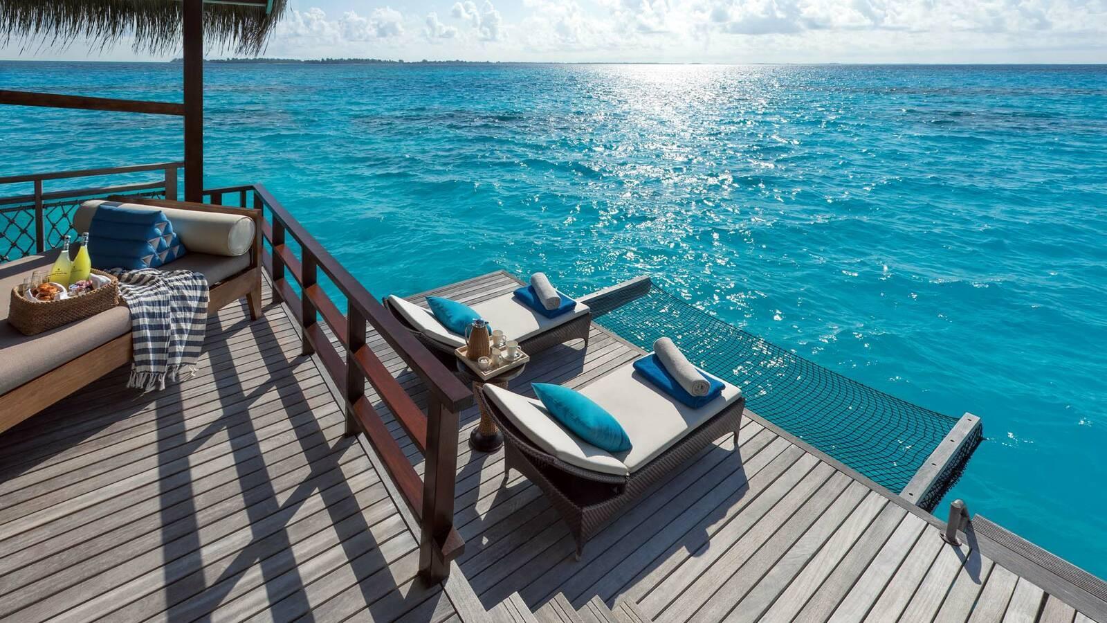 Shangri La Villingili Water Villa Terrasse Maldives