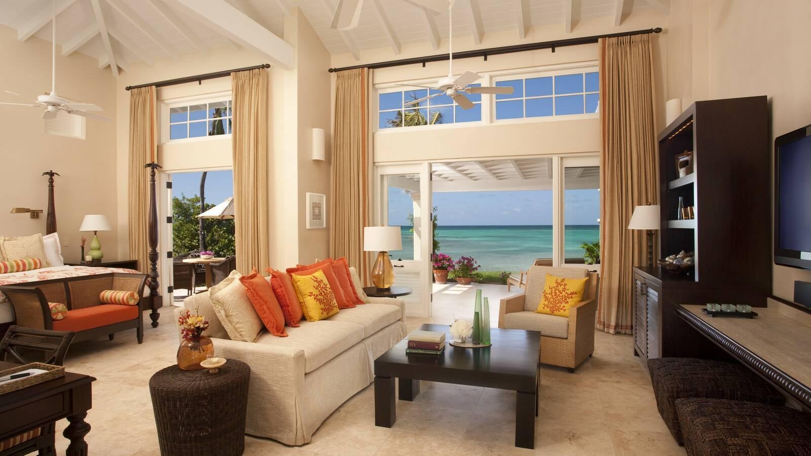 Jumby Bay Antigua et Barbuda beachside suite
