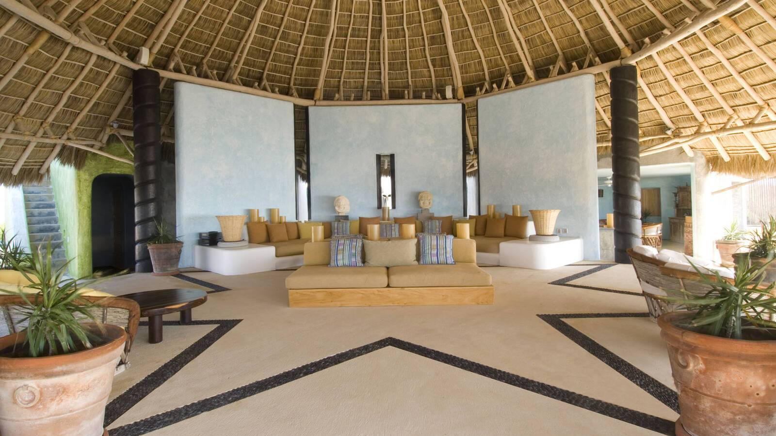Careyes Mexique Living Area