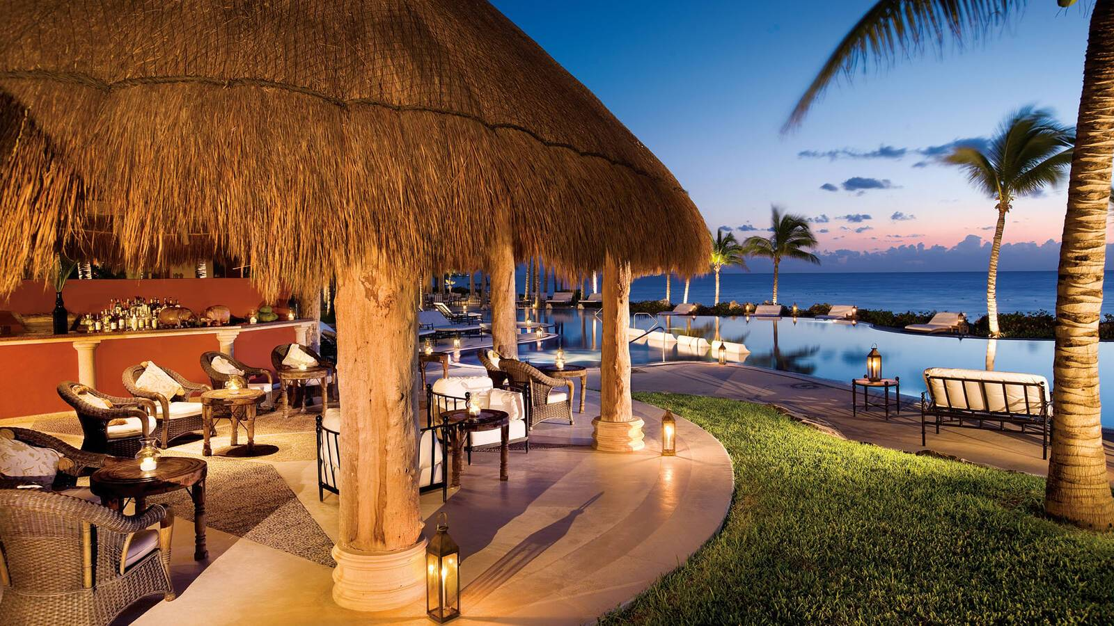 Zoetry Paraiso Riviera Maya Mexique hippos pool bar