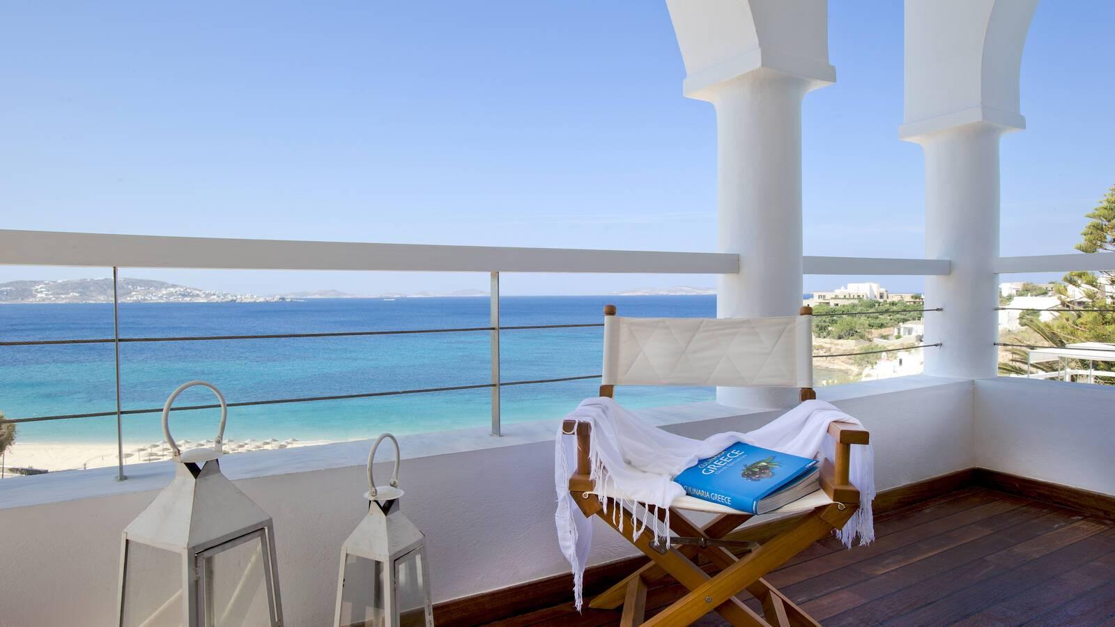 Grace Mykonos Mykonos Suite balcon vue mykonos