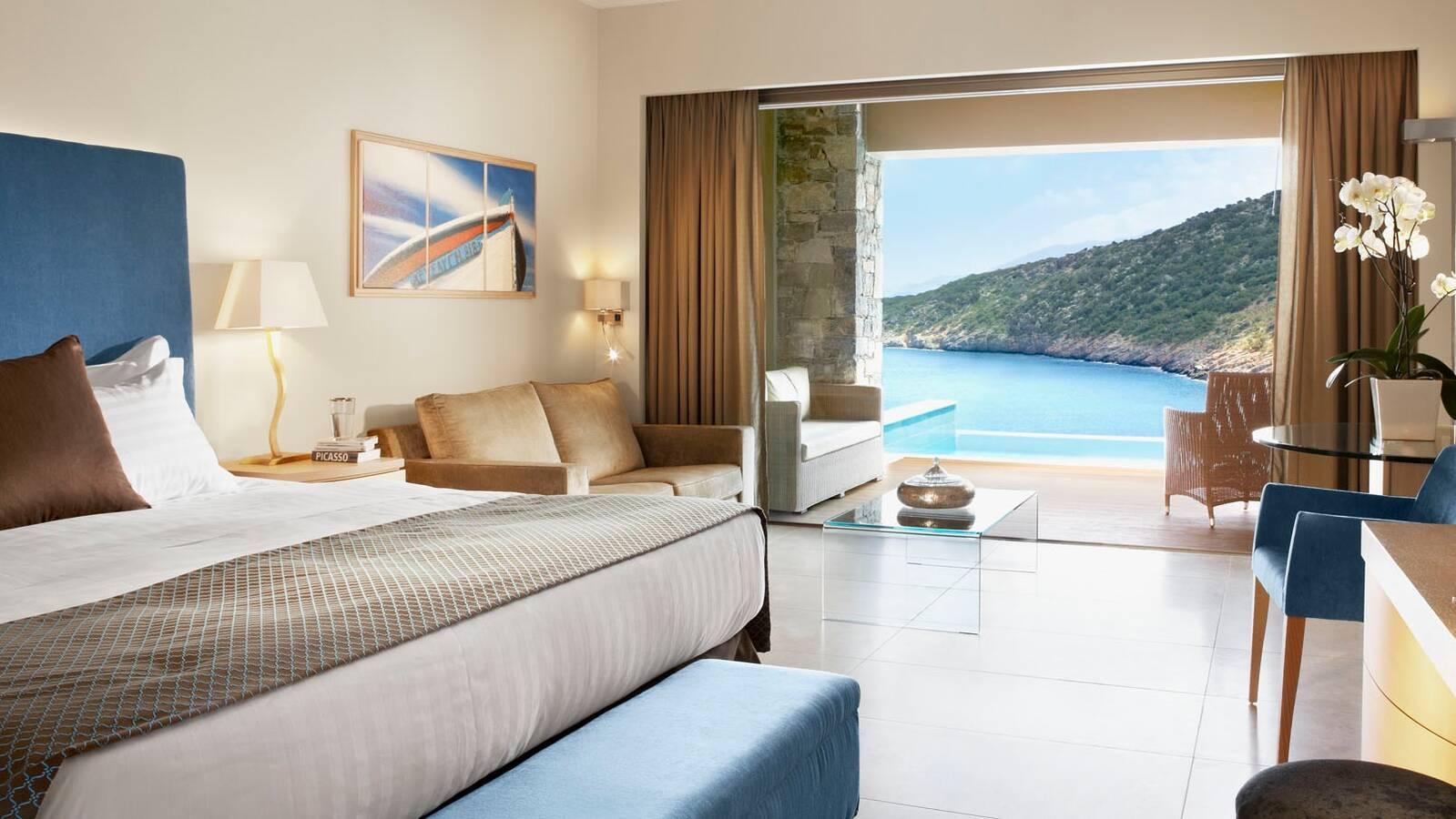 Daios Cove Deluxe Room Pool Chambre Crete