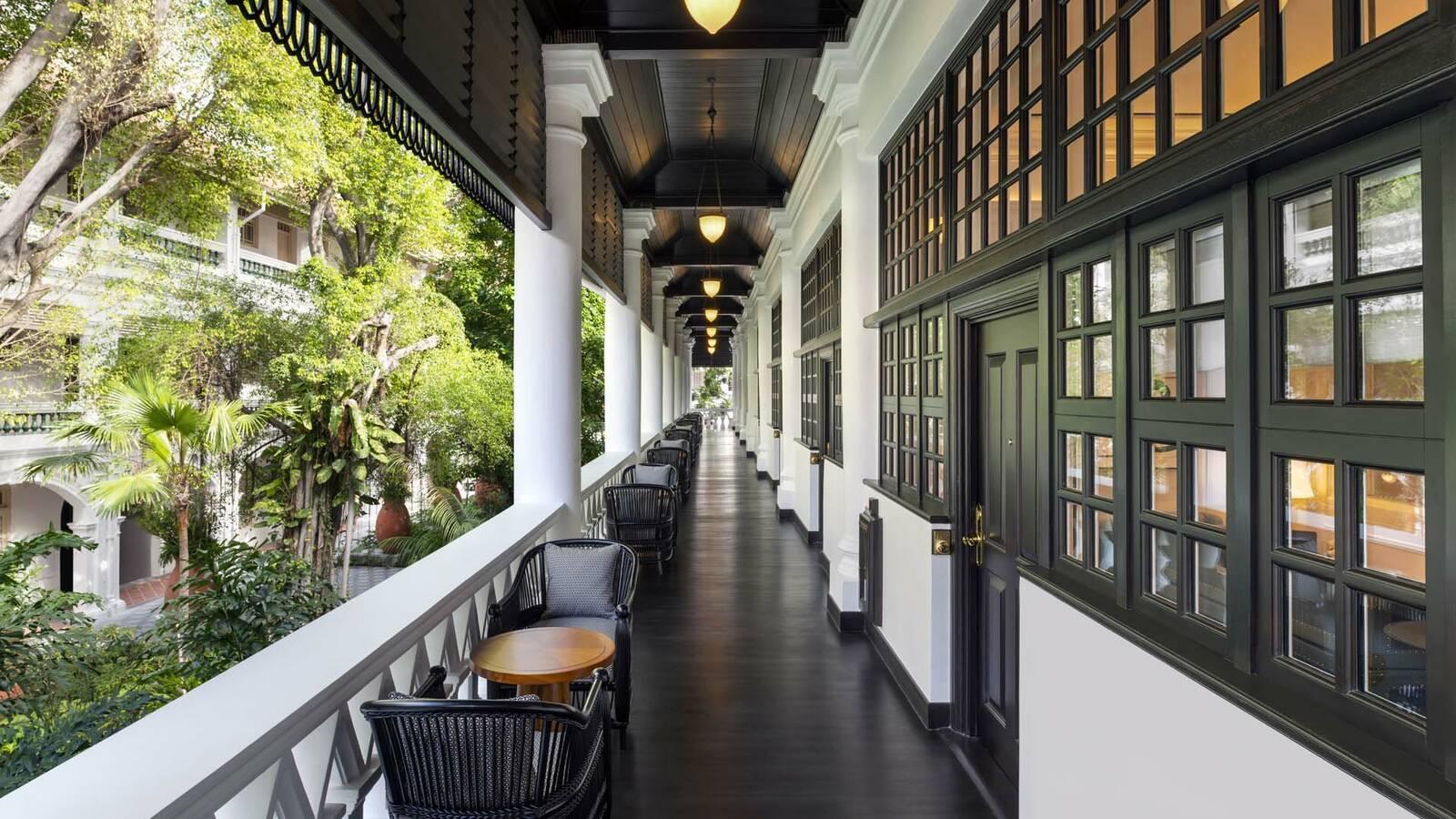 Raffles Singapour Verandah corridor