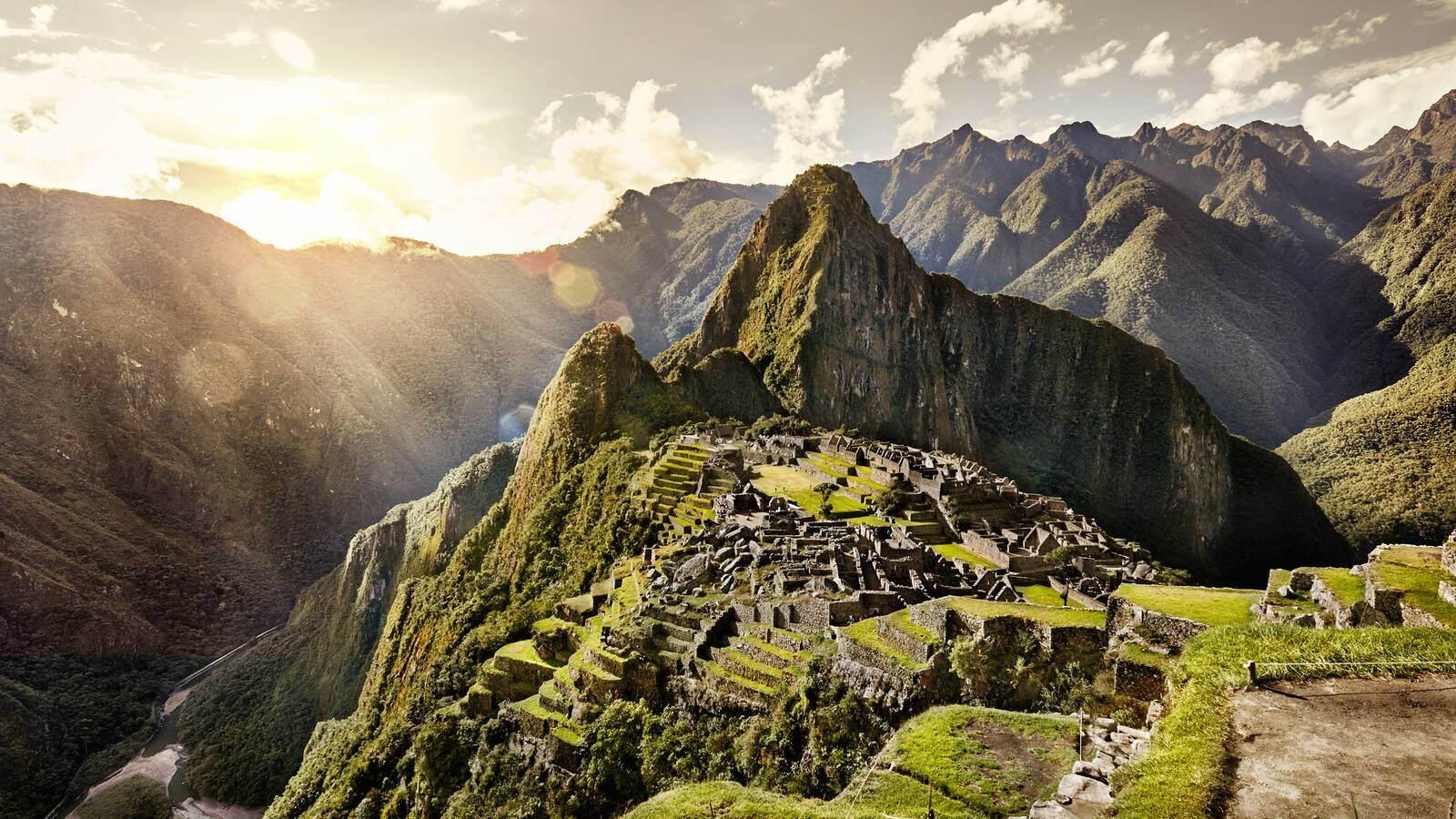 Machu Picchu Vue Aerienne Perou