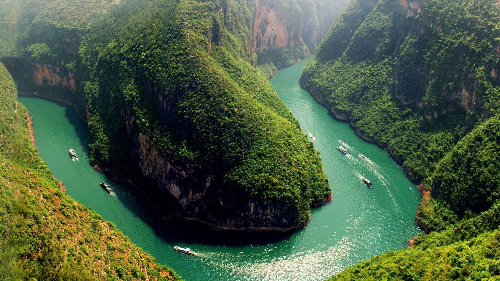 Sanctuary Yangzi Explorer Vue Aerienne Croisiere Circuit Chine