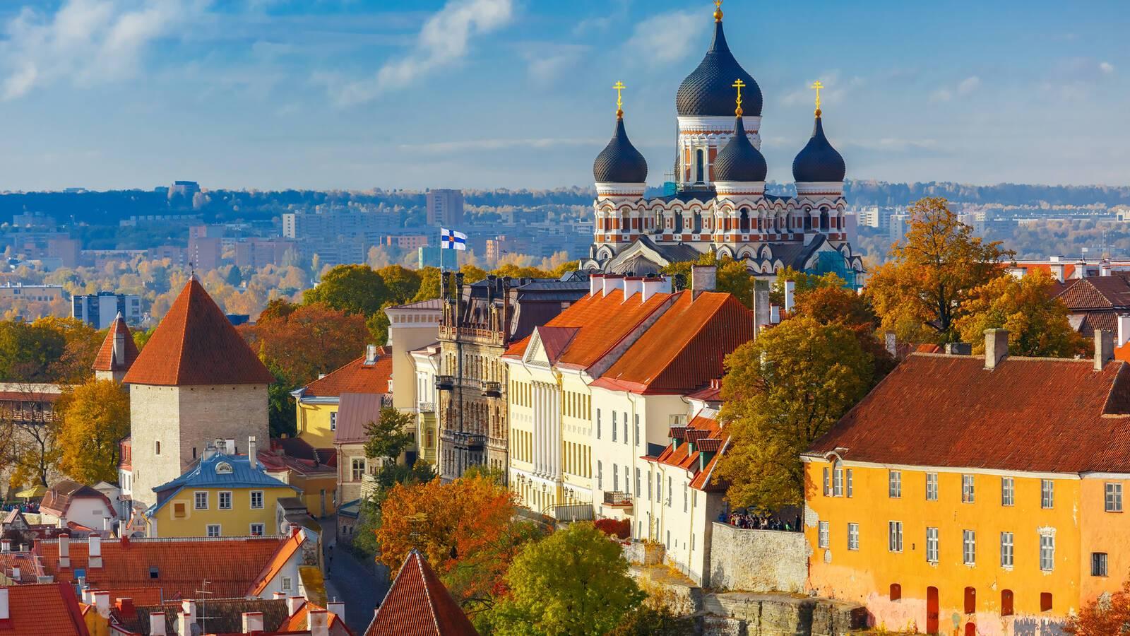Tallinn Centre Ville Estonie Pays Baltes