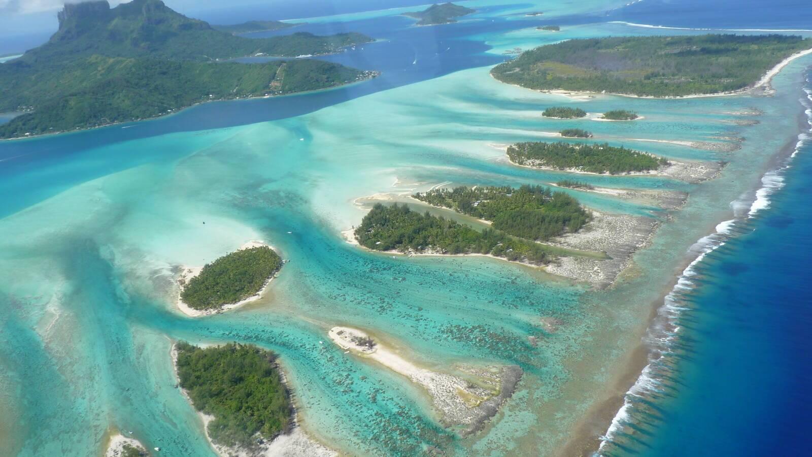 Bora Bora Vue Aerienne Ile Ocean Polynesie Francaise