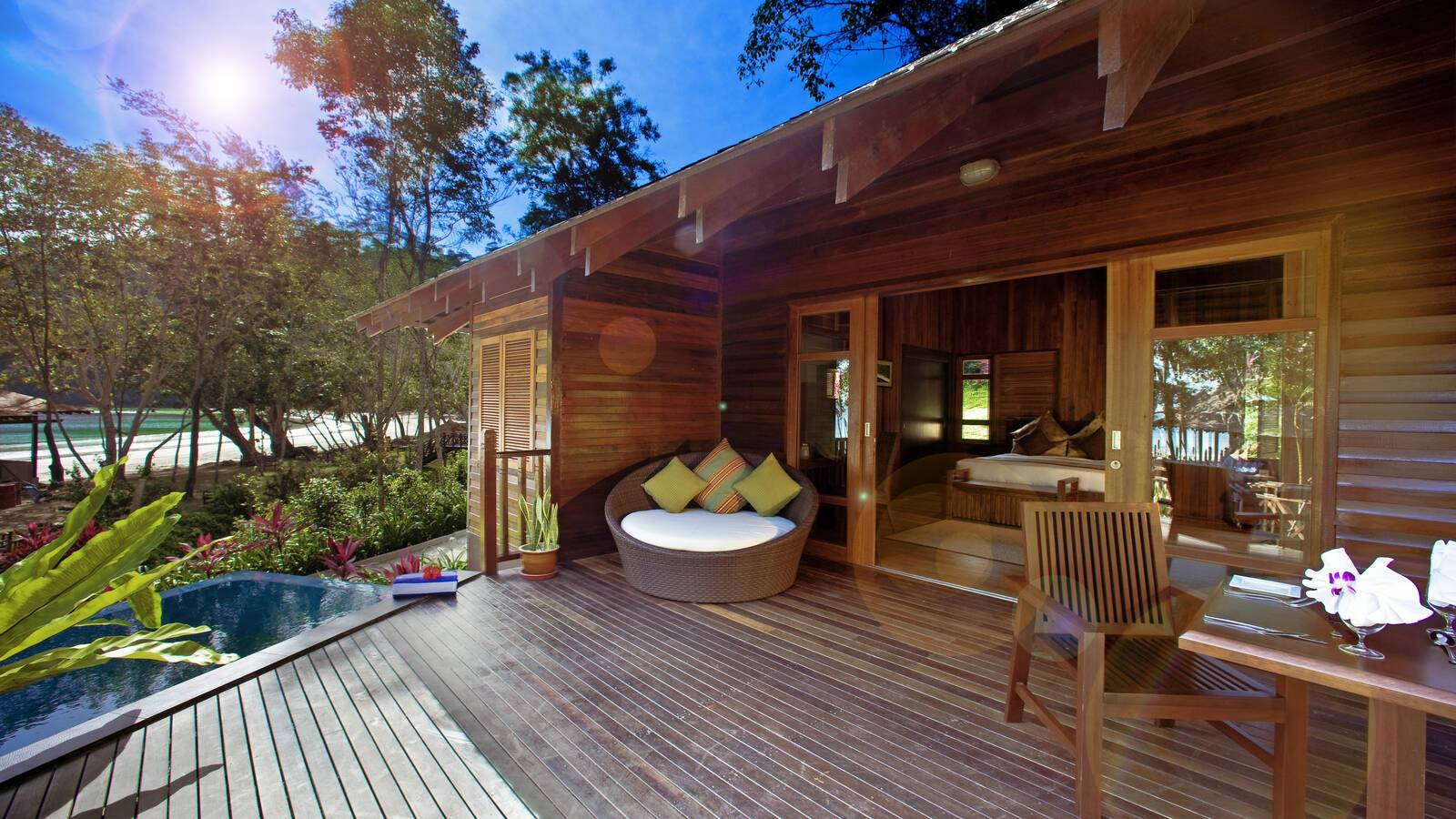 Bunga Raya Malaisie plunge pool villa exterieur