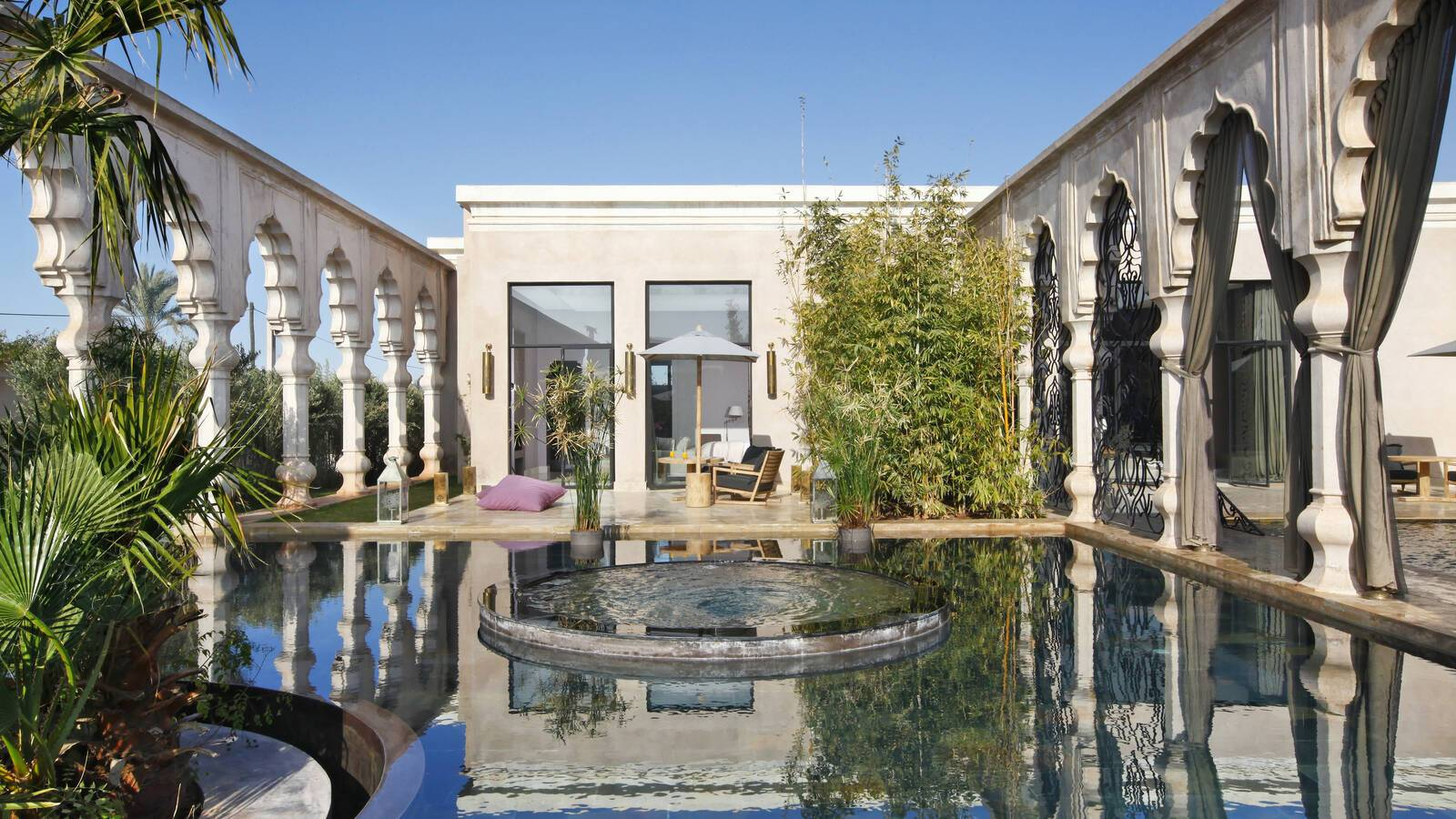 Palais Namaskar Marrakech deluxe room exterieur piscine