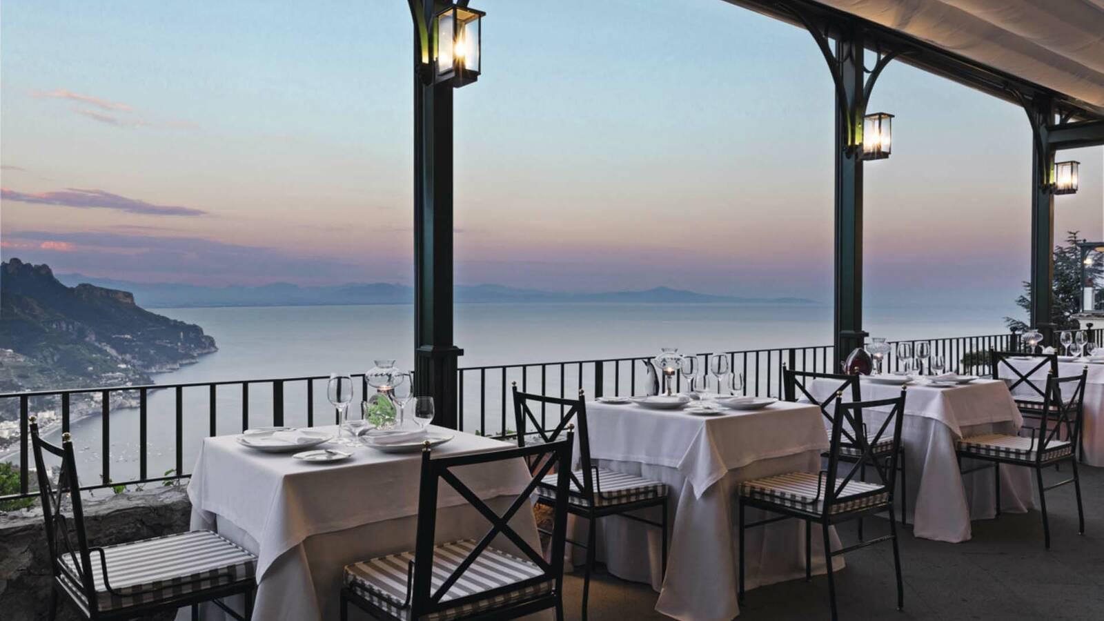 Palazzo Avino Ravello Italie Restaurant