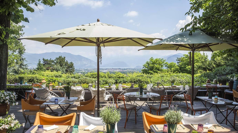 Albereta Lombardie Italie Terrasse Restaurant Leonefelice Vista Lago