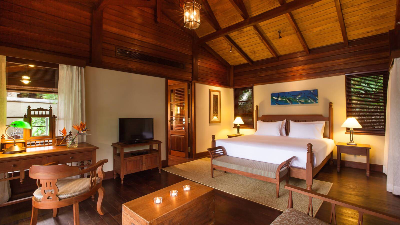 Enchanted Island Seychelles private pool villa chambre