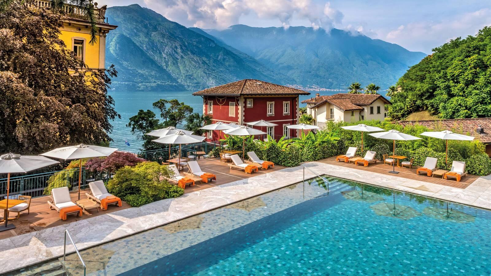 Grand Hotel Tremezzo Lac Come Italie Flowers Pool