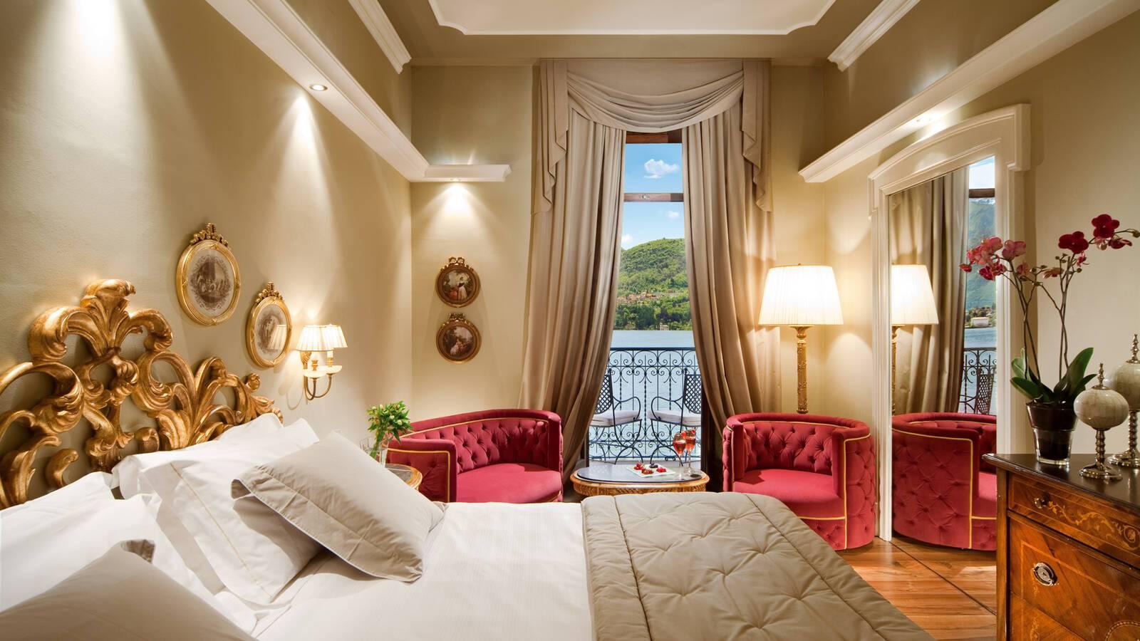 Grand Hotel Tremezzo Lac Come lake view prestige chambre Roberto Bonardi
