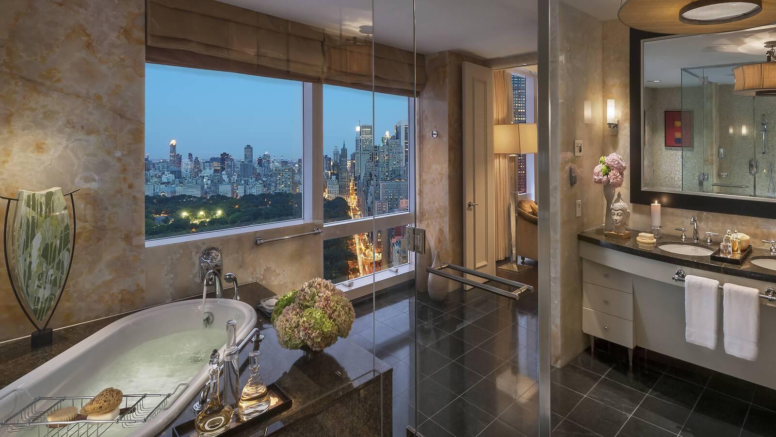 Mandarin Oriental New York salle de bain suite