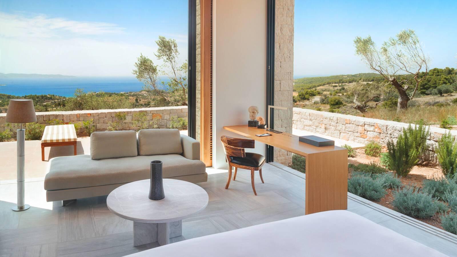 Amanzoe 5 Bedrooms Villa Chambre Grece Peloponnese