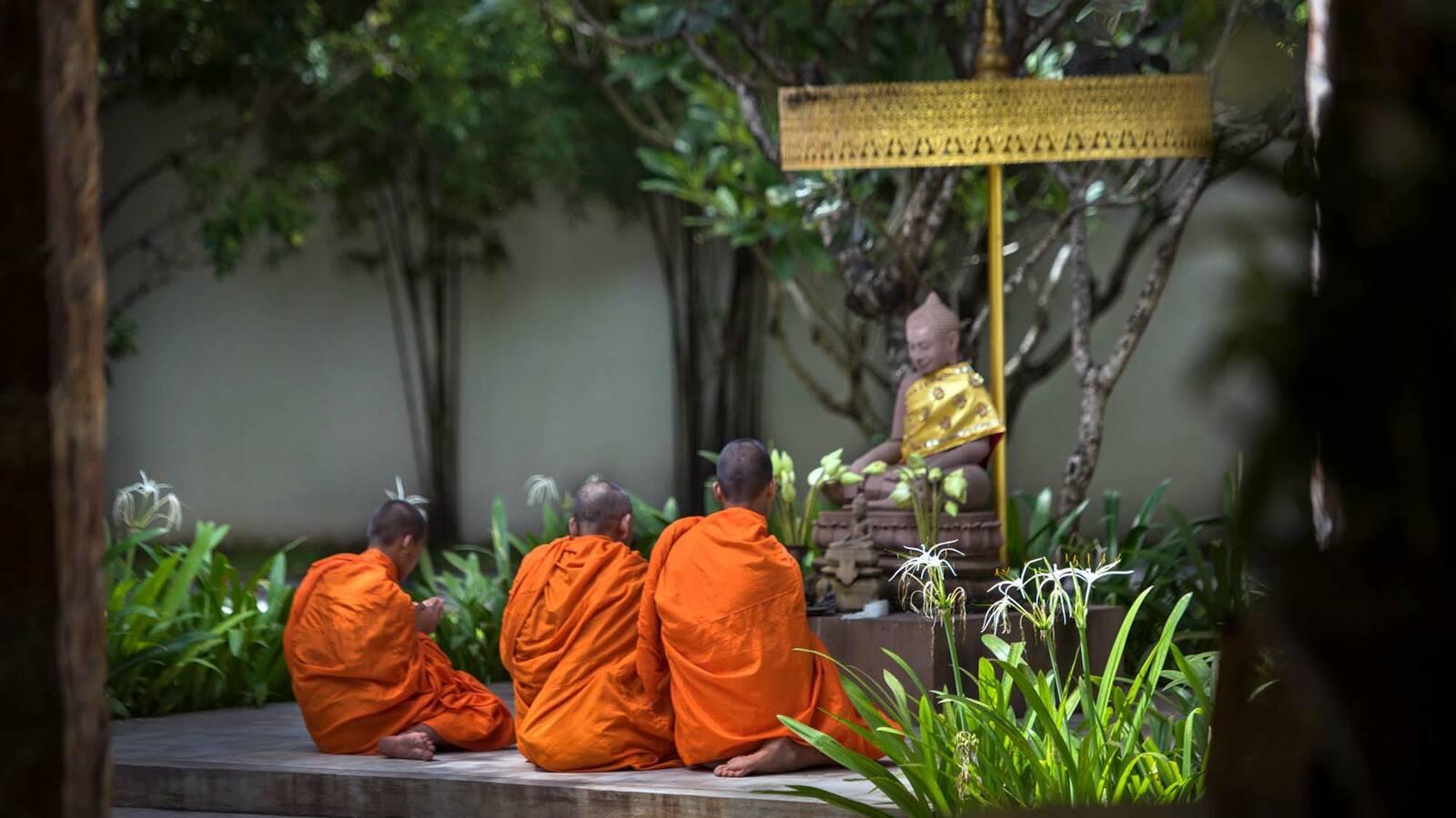 Amansara Buddhist Monks Siem Reap Cambodge