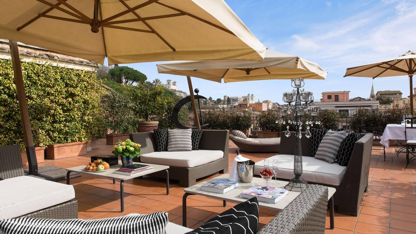Hotel de Russie Rome Njinsky Suite Terrace
