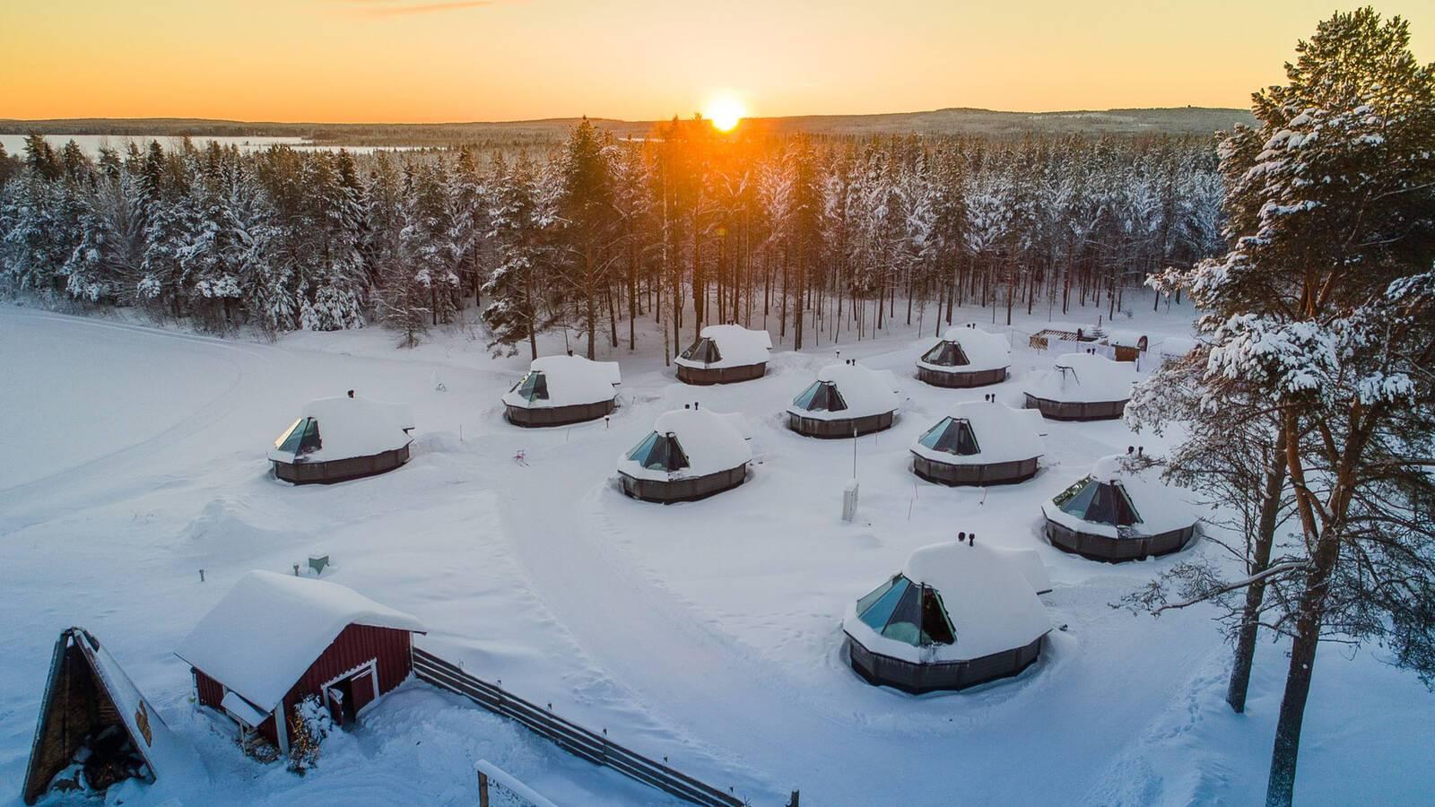 Apukka Resort Rovaniemi Finlande Aurora Cabins