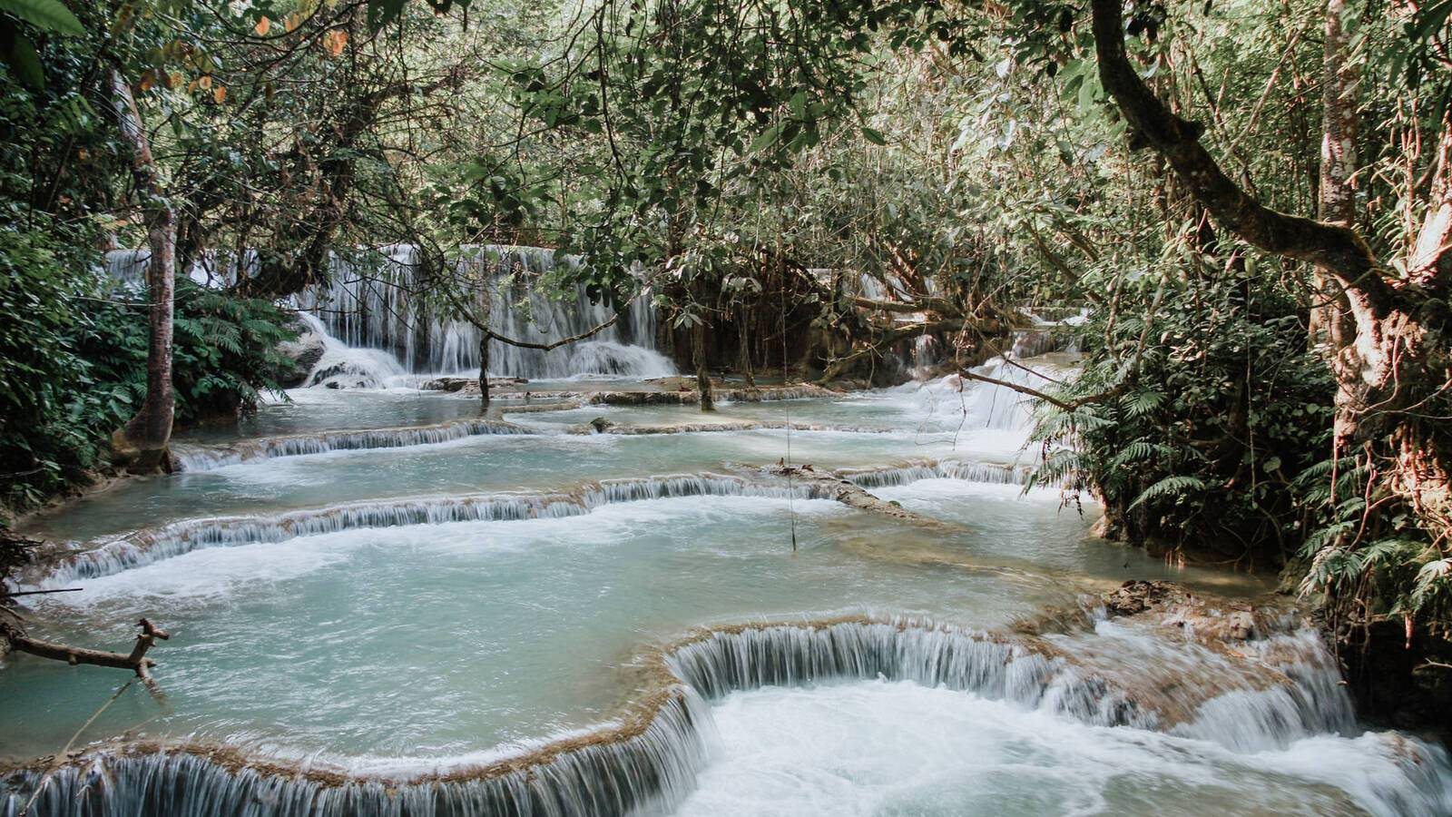 Laos Luang Prabang water stream christine wehrmeier