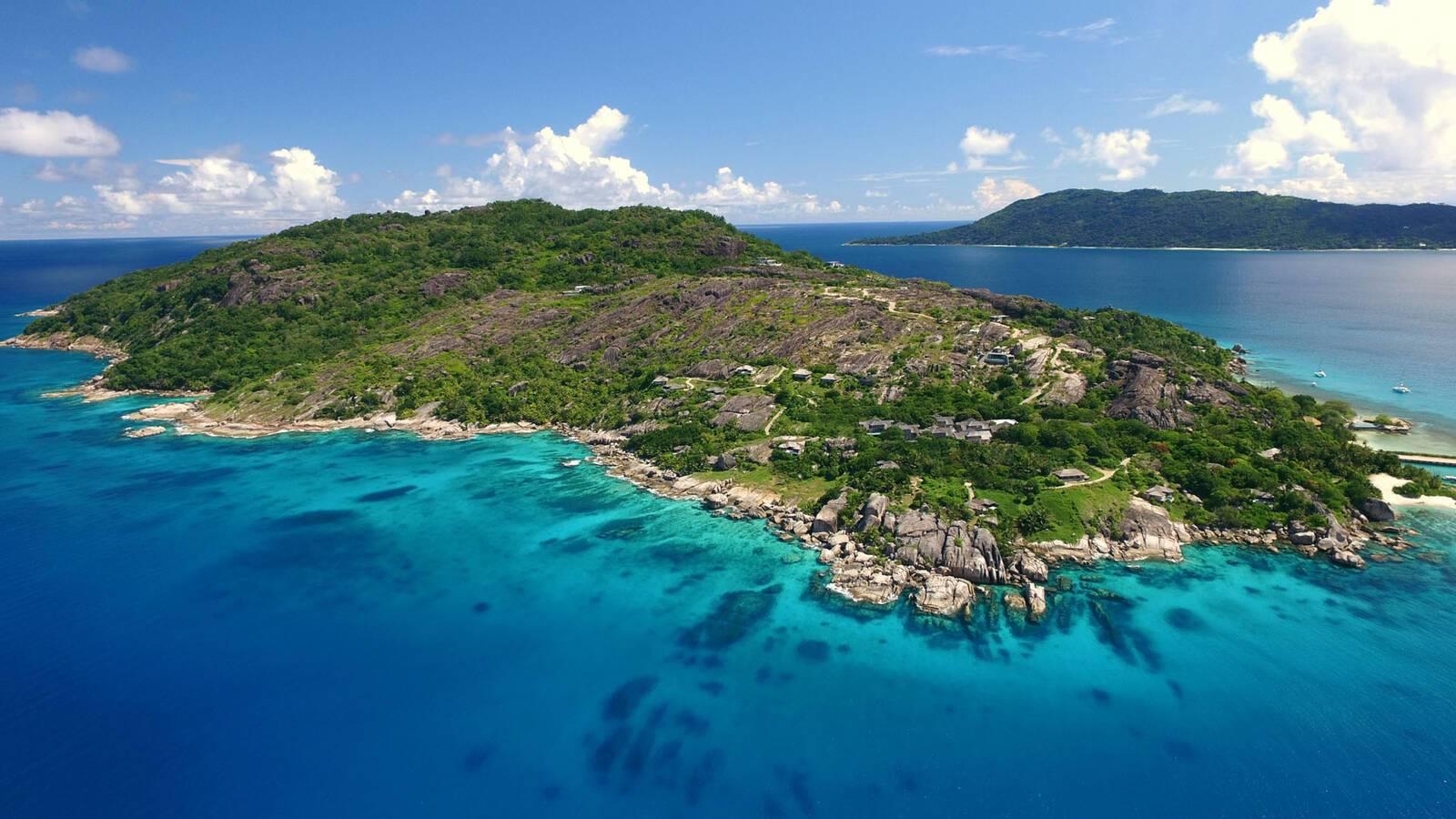 Seychelles Six Senses Zil Pasyon Felicite aerial view