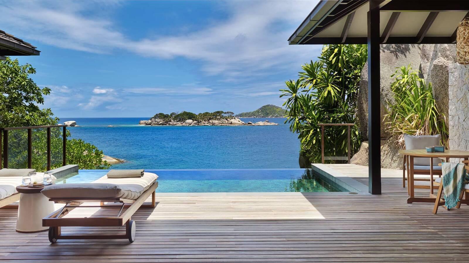 Seychelles Six Senses Zil Pasyon ocean front pool villa