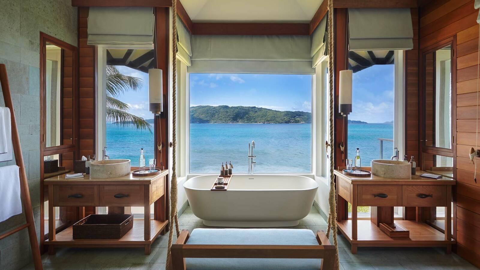 Seychelles Six Senses Zil Pasyon villa bathroom