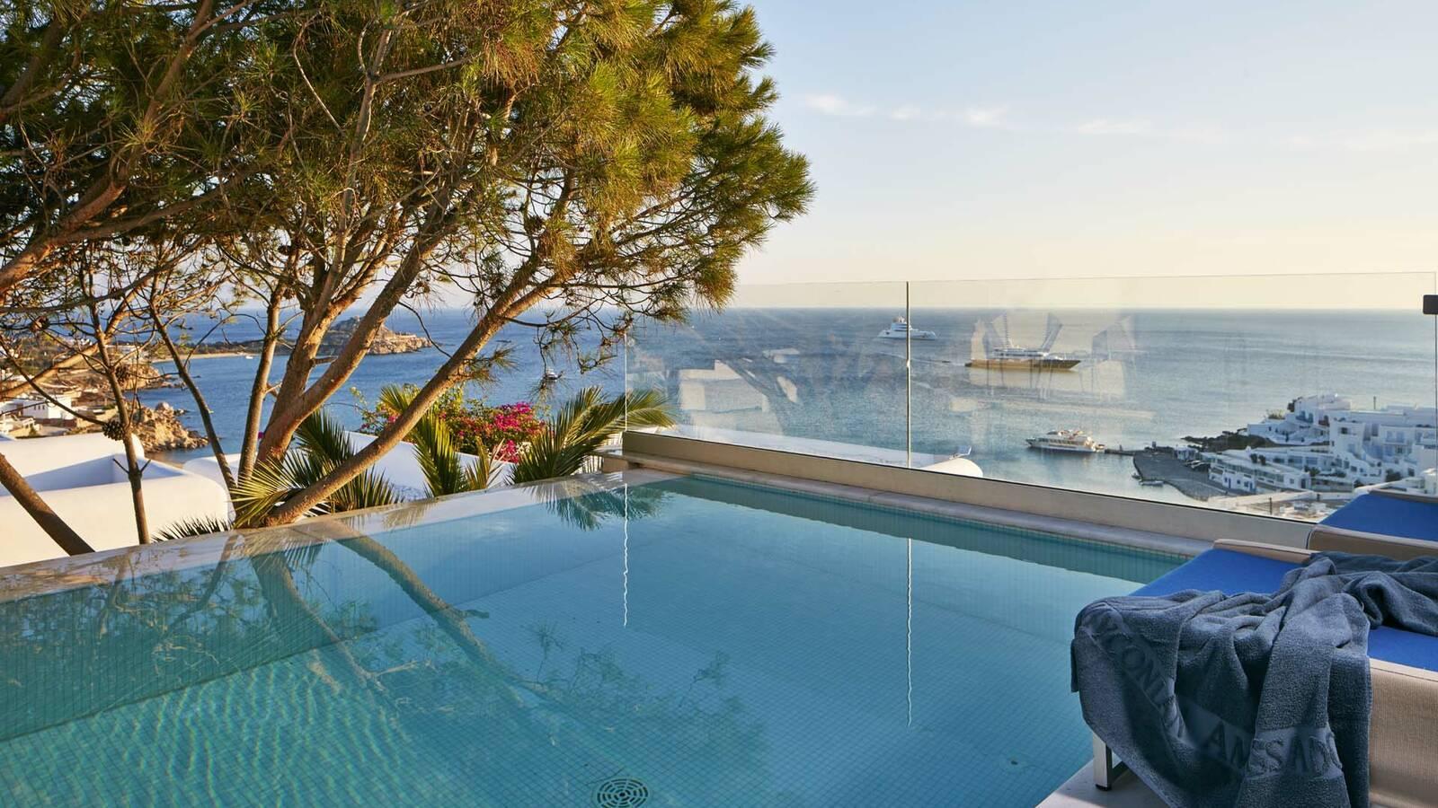 Myconian Ambassador Mykonos villa pool