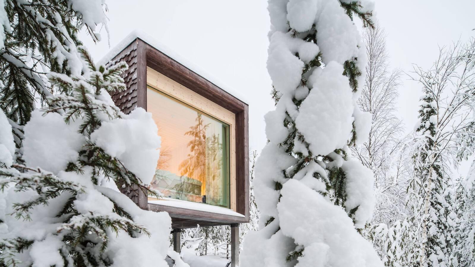 Laponie Finlandaise Arctic TreeHouse Exterieur Hiver