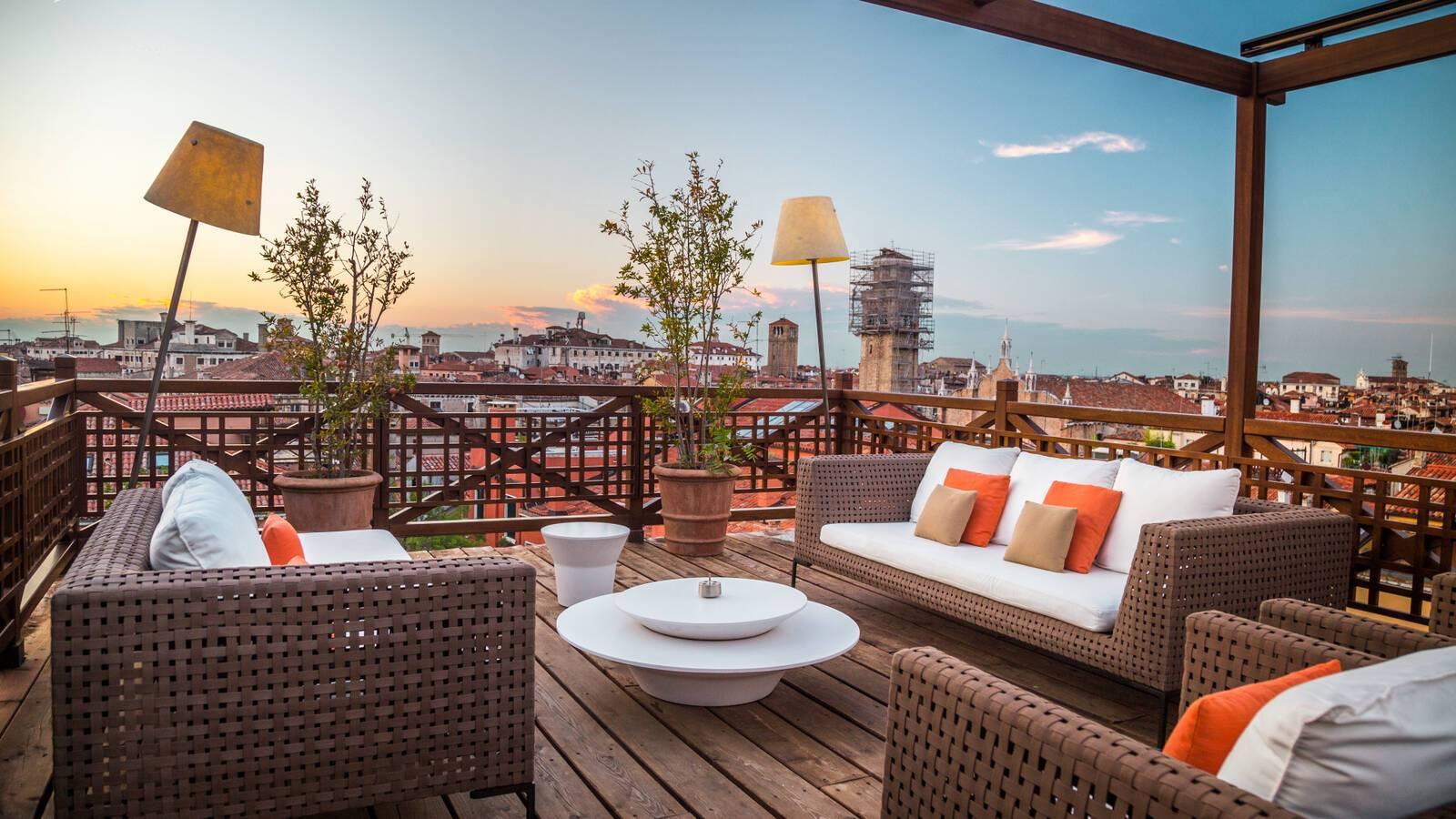 Aman Venise Rooftop Terrace.
