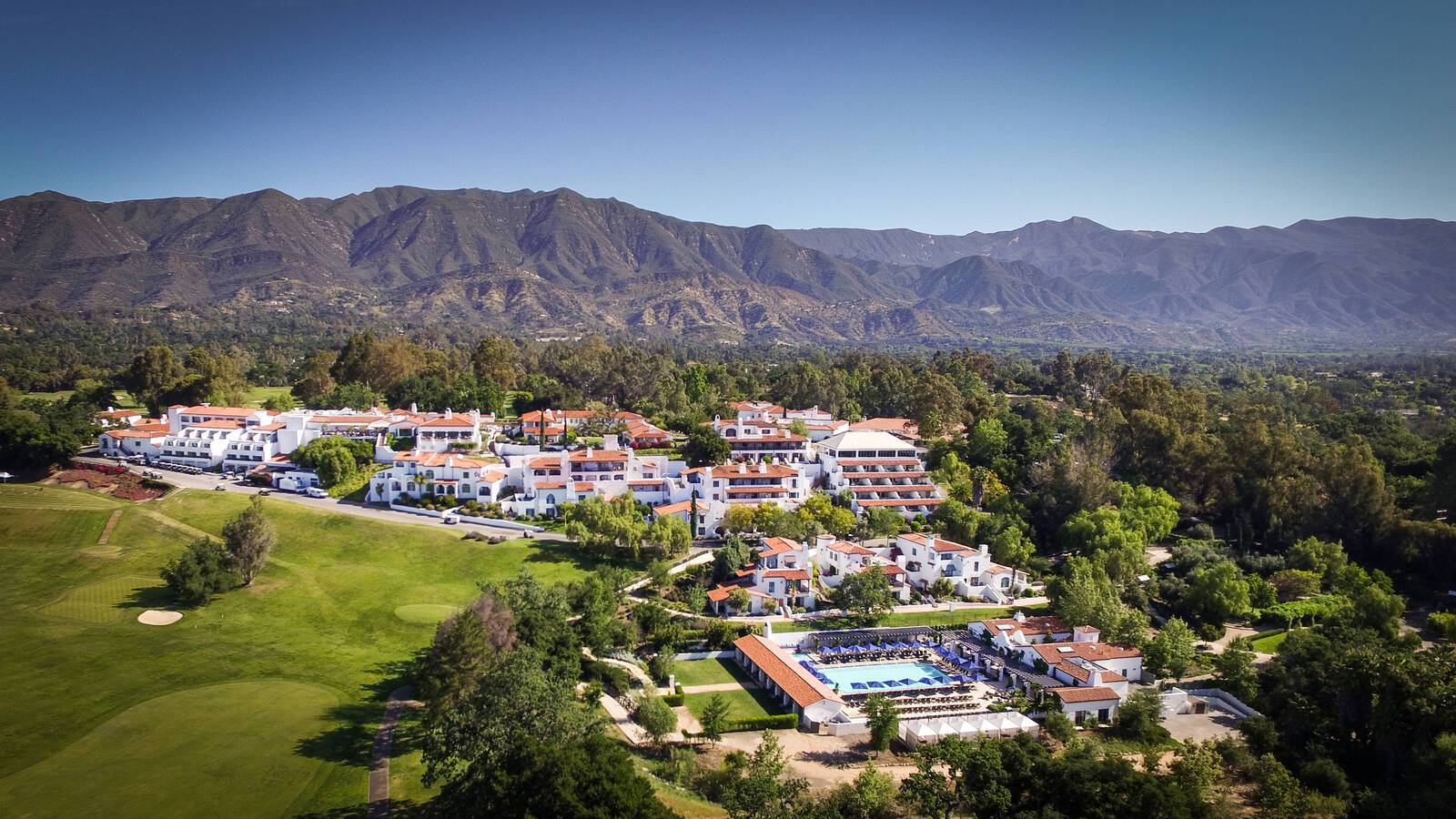 Ojai Valley Inn Resort Californie Vue Aerienne