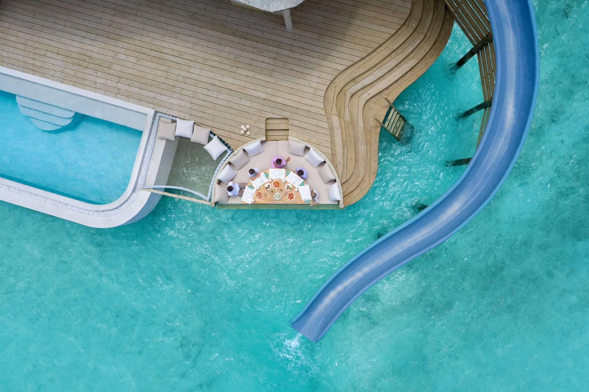 Soneva Fushi Maldives Water Retreat Tobogan