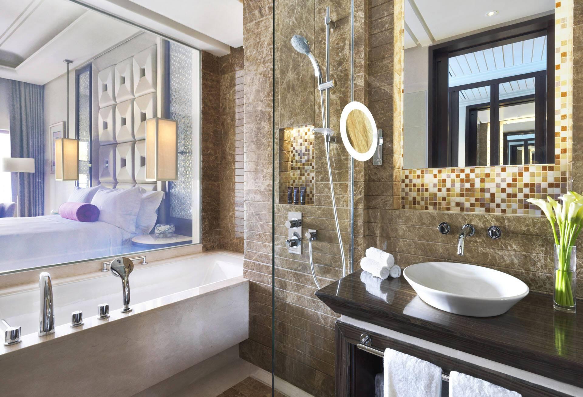 Al Bustan Palace Mascate Oman Lagoon Deluxe Pool Salle Bains