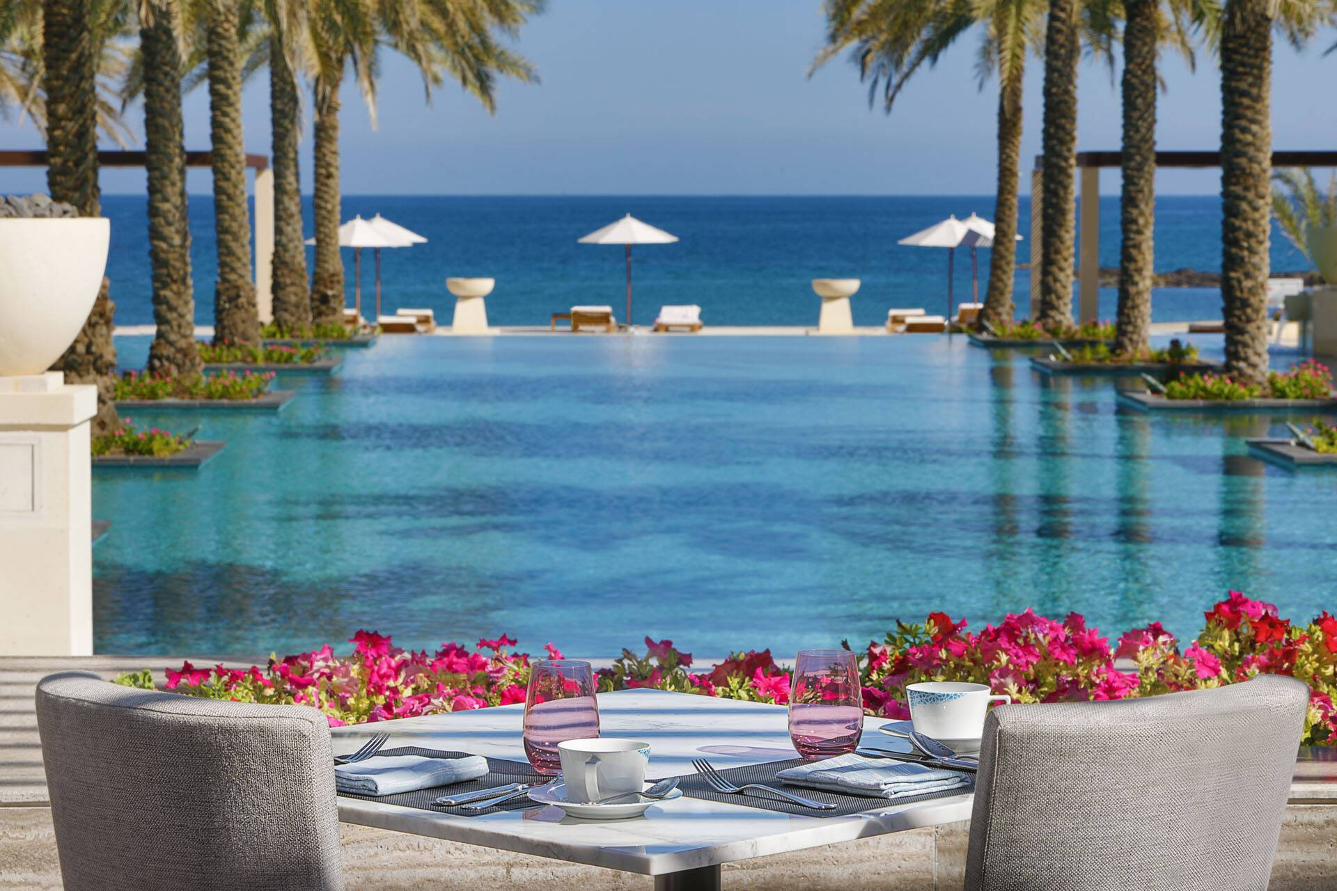 Al Bustan Palace Mascate Oman Vue Piscine
