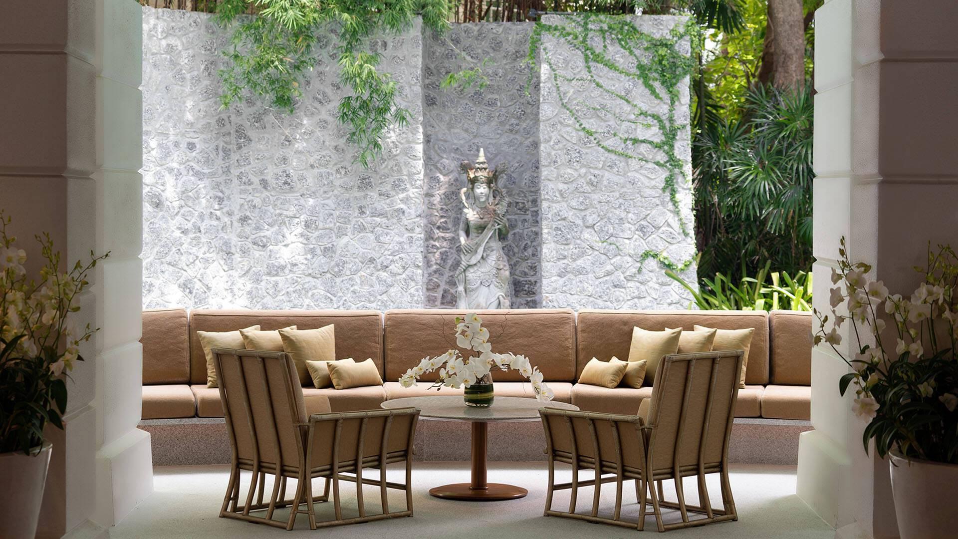 Chiva Som Thailande Lounge Terrasse