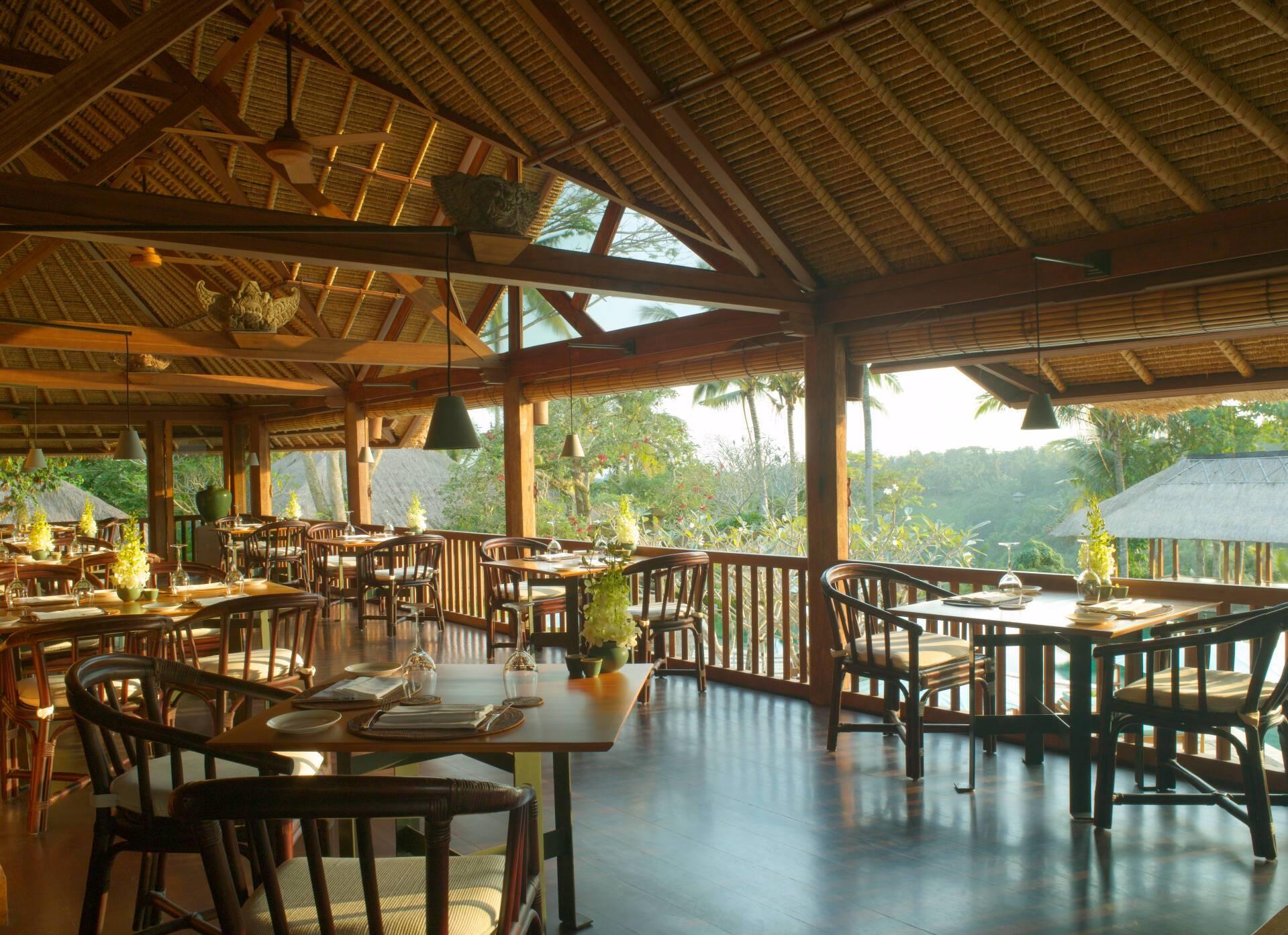 Amandari Restaurant Bali Indonesie Amanresorts