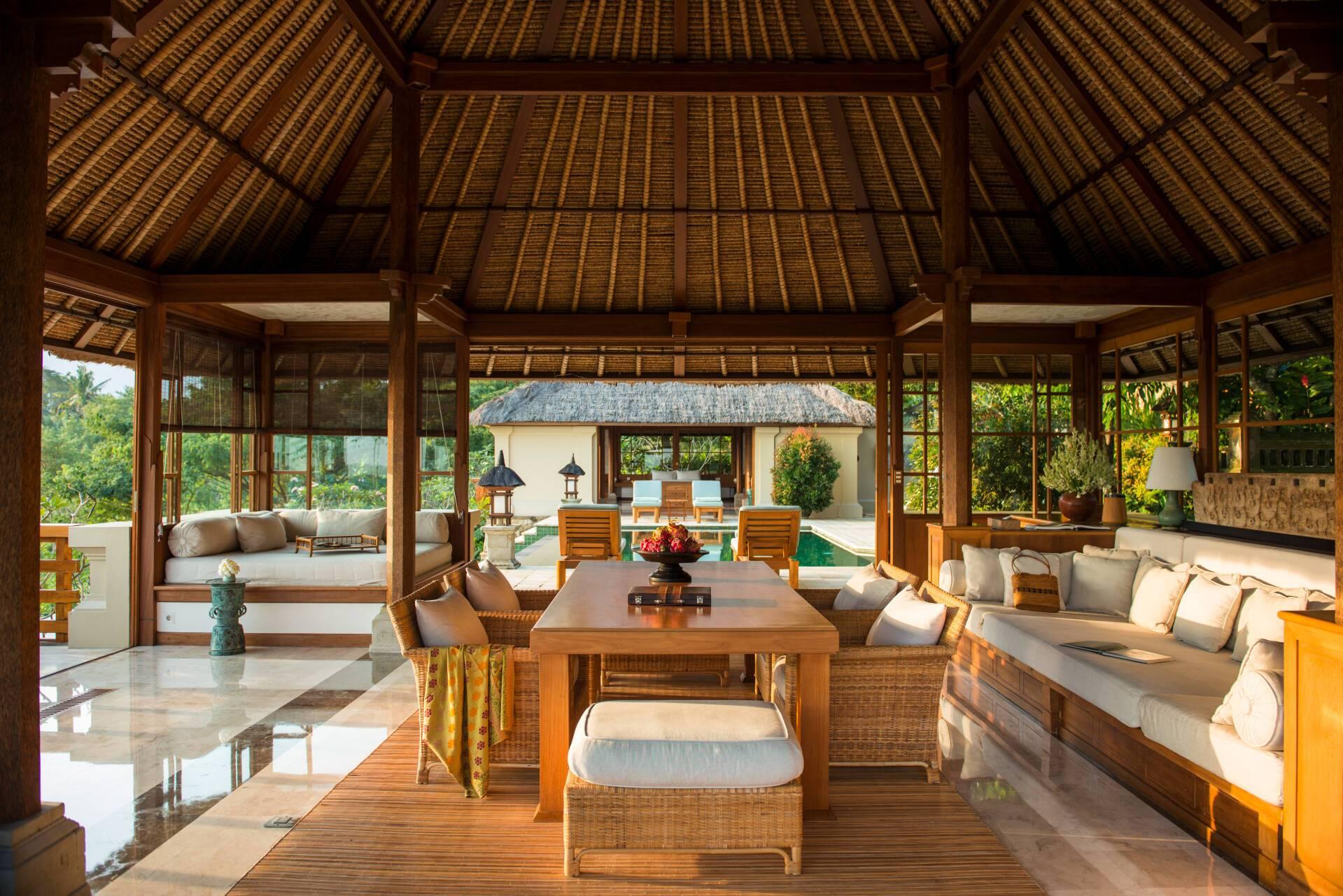 Amandari Villa Lounge Bali Indonesie Amanresorts