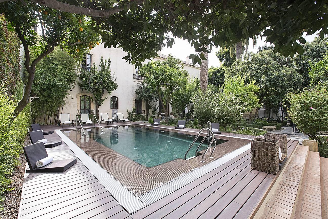 Hotel Hospes Palacio Bailio Cordoue Piscine