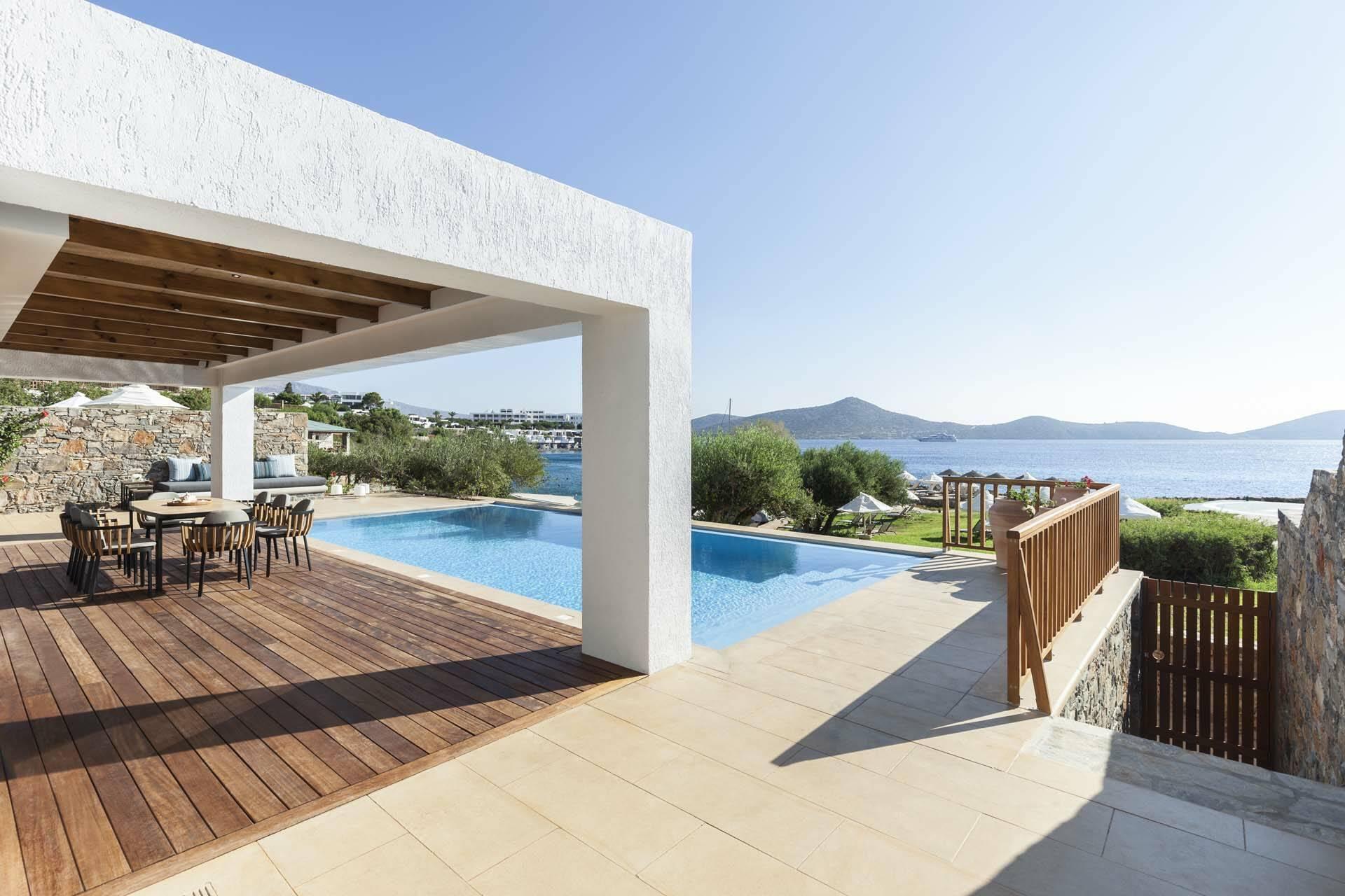 Elounda Mare Crete villa palace terrasse