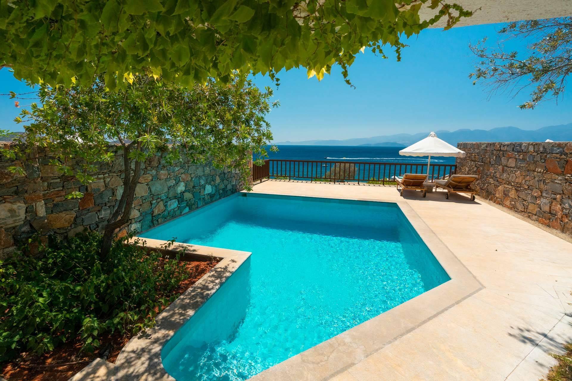 Elounda Mare Crete villa pool